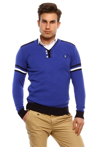Maccali 3006 Men's Blue Sweatshirt
