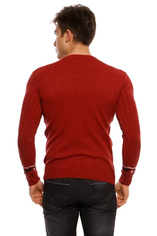 Maccali 3014 Men's Red Sweatshirt