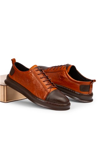 Marwells Men's casual shoes - Taba and brown 2021366