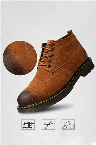 Men's  Leather  Brown 202198