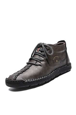 Men's  Leather  Grey 202209