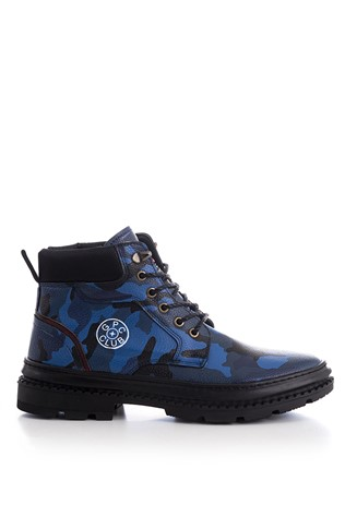 Men's Boots Camouflage Blue 202300