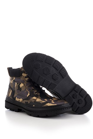 Men's Boots Camouflage Brown 202299