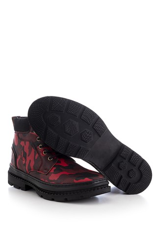 Men's Boots Camouflage Red 202298