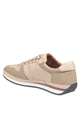 Men's Casual Leather Shoes Beige 202064