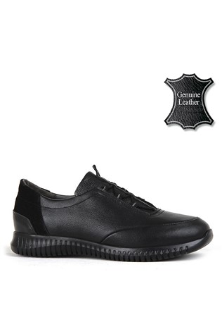 Men's Casual Leather Shoes Black 202166