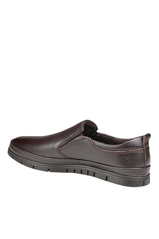 Men's Casual Leather Shoes Brown 202054