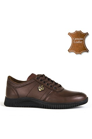 Men's Casual Leather Shoes Brown 202165