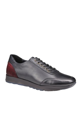 Men's Casual Leather Shoes Dark Blue 202060