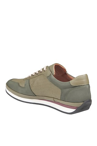 Men's Casual Leather Shoes Khaki 202063