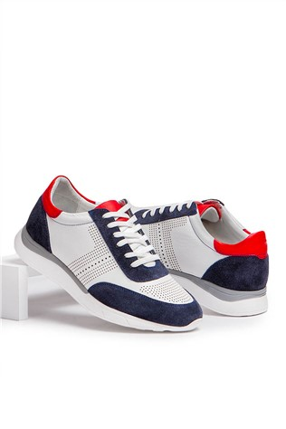 Men's casual shoes - bilí and dark blue  2021657