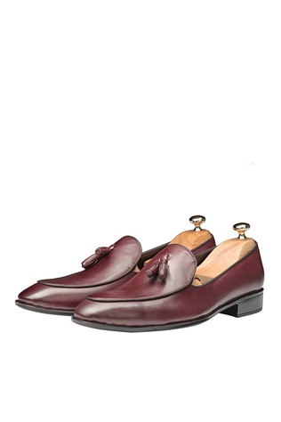 Men's Elegant Shoes Bordo 202089