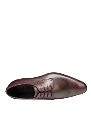 Men's Elegant Shoes Dark Brown 202132