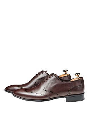 Men's Elegant Shoes Dark Brown 202137