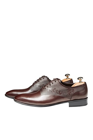 Men's Elegant Shoes Dark Brown 202144