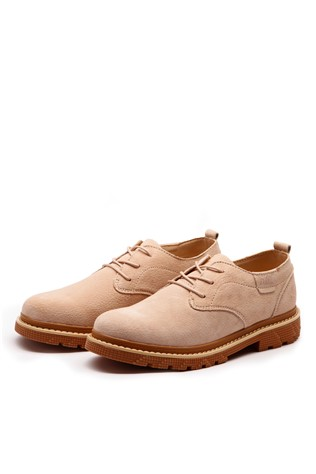 Men's Leather  Shoes Dark Beige 202302