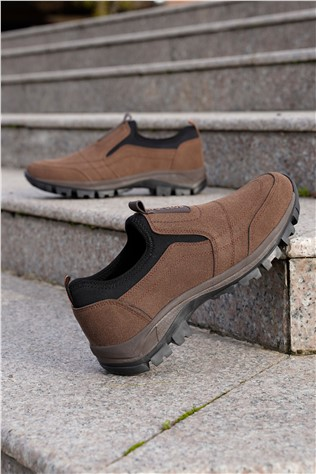 Men's Leather Shoes - Brown 202283
