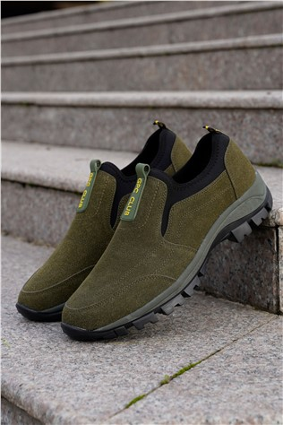 Men's Leather Shoes - Green 202286