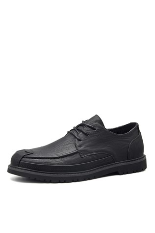 Men's leather shoes Μαύρα 203113