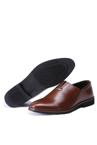 Men's Leather Shoes Brown 202303