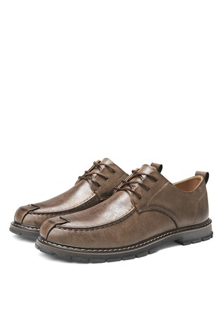Men's leather shoes Brown 203117