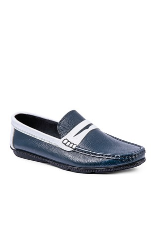 Men's Shoes - Blue and white  795965691