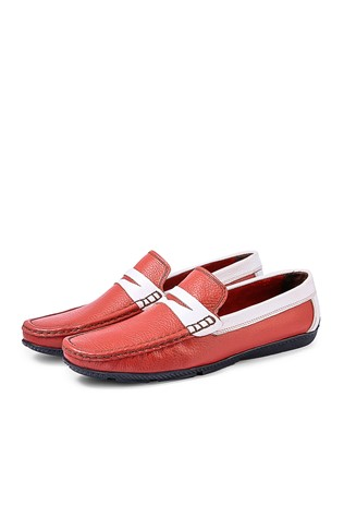 Men's Shoes - Red  and white 795965702