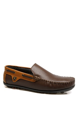 Men's shoes brown leather 201937