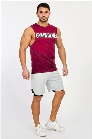 Men's Sleeveless T-košyle - červená 9989991