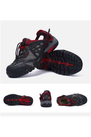 Men's Travel Shoes Black and Red 202296