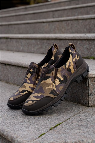 Men's Travel Shoes Camouflage Brown 202293