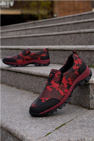 Men's Travel Shoes Camouflage Red 202292