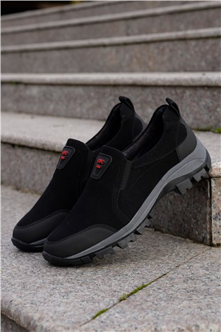 Men's Travel Shoes Nabuk Black 202289