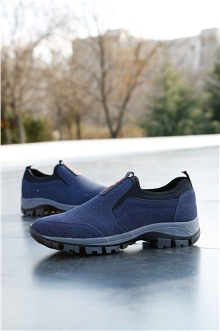Men's Travel Shoes Nabuk Dark Blue 202360