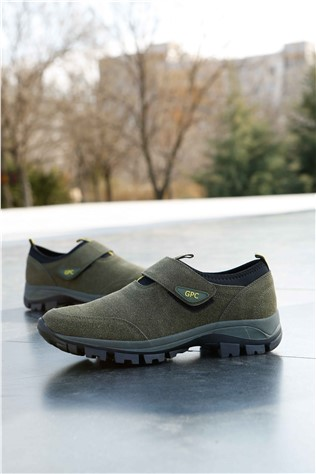 Men's Travel Shoes Nabuk Green 202288