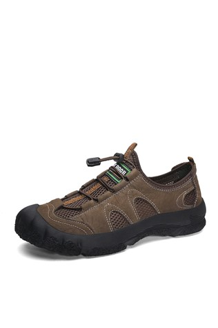 Men's trekking leather Shoes Brown 202302