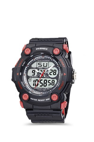 Men's watch Pasnew Μαύρα PSE367-N2