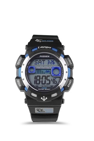 Men's watch Pasnew Black/Blue PLG1002D-N3