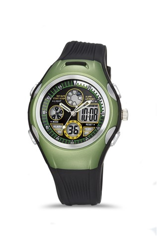 Men's watch Pasnew Black/Green PSE305B-N2