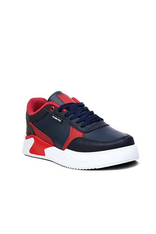 Men shoes - Dark blue and red 2021033