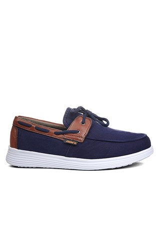 Men shoes 1011 - Dark blue and brown 2021055