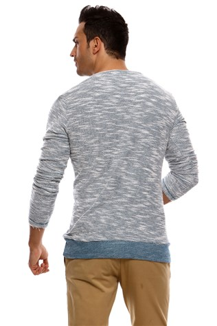 N-star 44015 Men's Light Blue Sweater