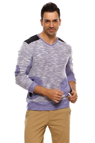 N-star 44021 Men's Light Πορφυρό Sweatshirt