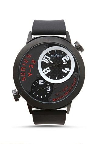 Naviforce Nv209 Μαύρα-red watch