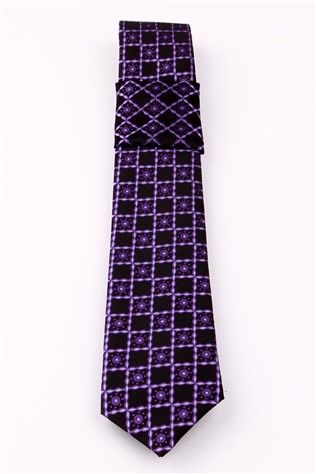 Krv-117 Men's Purple Tie