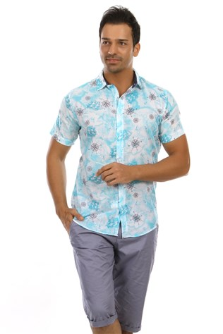Paul Smith Men's turquoise Shirt 5019
