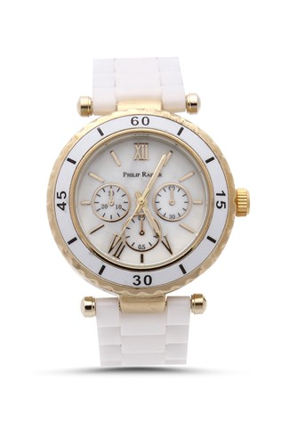Philip Rainer Pr004 bilí-rose lady's watch
