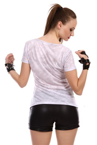 Real 3d White Women T-shirt V048
