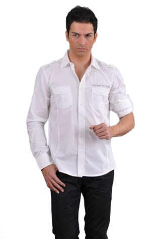 Redline 41 Men's White Shirt