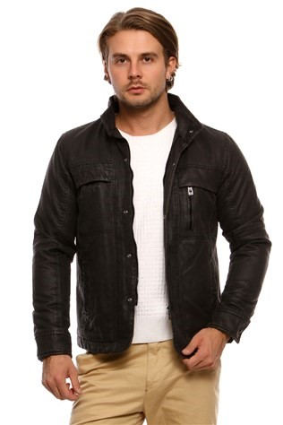 South Yacht Club Trophy Cml-0047 Anthracite Men's Leather Jacket